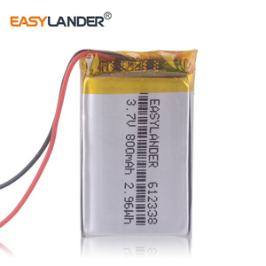 612338 3.7V 800mAh Rechargeable Li-Polymer Battery For MP4 GPS toys dvr570 FD6SG hd50G TEXET FHD-570 DVR dvr-3gp Gmini HD50G(China)