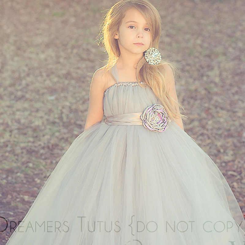 82398e9fdc6 Платье для девочек в цветочек  платье для свадебной вечеринки платье-пачка платье  принцессы Дети