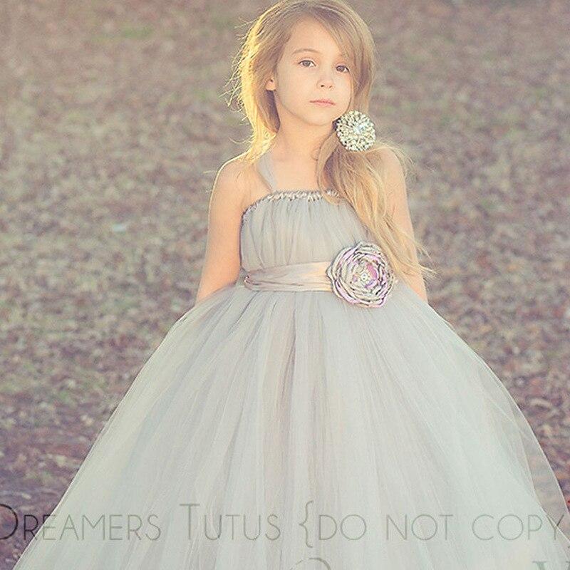 Robe de mariée fille fleur robe Tutu princesse robe enfants Piano Concert spectacle hôte mode adolescents robe femme 2-14 ans