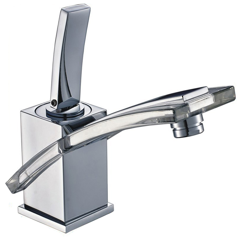 Single Handle Pedestal Rectangular Faucet