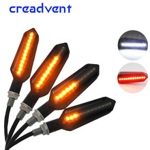 2X Multi-function Flowing Water Motorcycle Turn Signal Led Light Indicators Blinkers Flicker DRL Brake Lamp for Harley/honda/BMW(China)