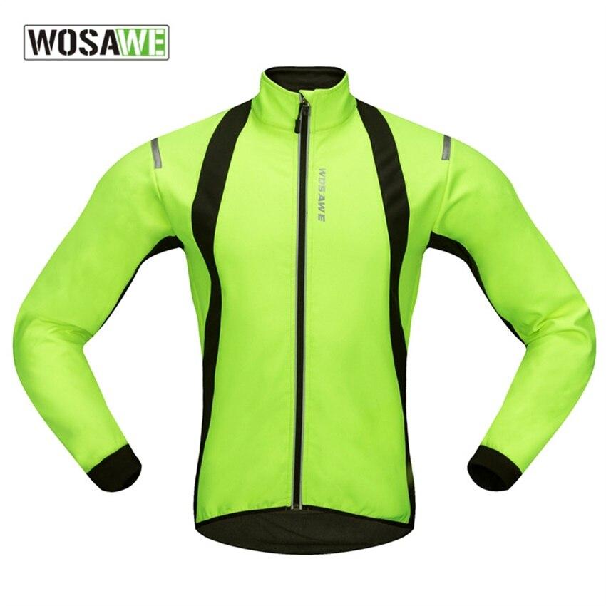 WOSAWE hommes hiver veste de cyclisme vélo doux Shell thermique polaire sport manteau vtt vélo coupe-vent veste à manches longues vêtements de sport