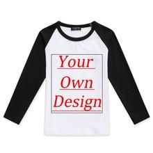 Customized Children T-Shirts Kids Cotton Long Sleeve Print Your Own Designe T shirt Girl Boy Custom Photo Diy Printing Tops Tee