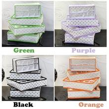 4pcs/set foldable box /Bamboo Charcoal fibre Storage Box for bra underwear necktie socks Four colors Free shipping