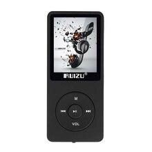 """1.8 """"X02 RUIZU FLAC Reproductor de Música Digital Portátil de pantalla Reproductor de Audio de la Marca Original Reproductor de MP3 con FM Radio Grabadora de Voz"""