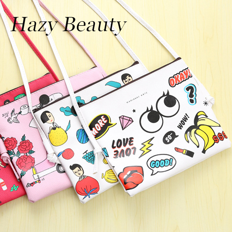 Hazy beauty funny brand design lady cross body handbag all over icons printing girls fashion boutique cute female love DH879 carhartt cross body carry all