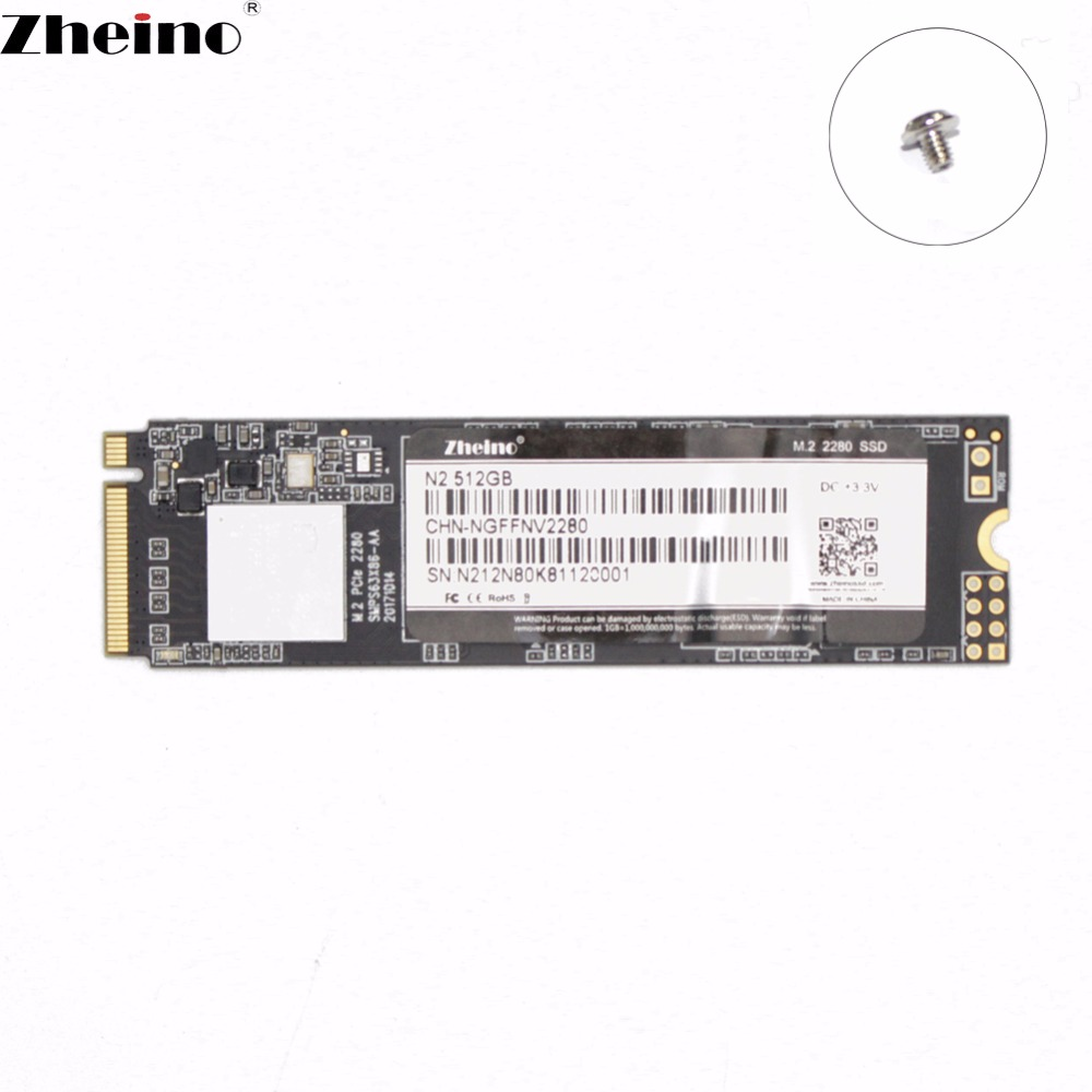 Zheino M 2 PCIe SSD N2 512GB NVMe 2280 mm For Laptop Internal Solid State Hard