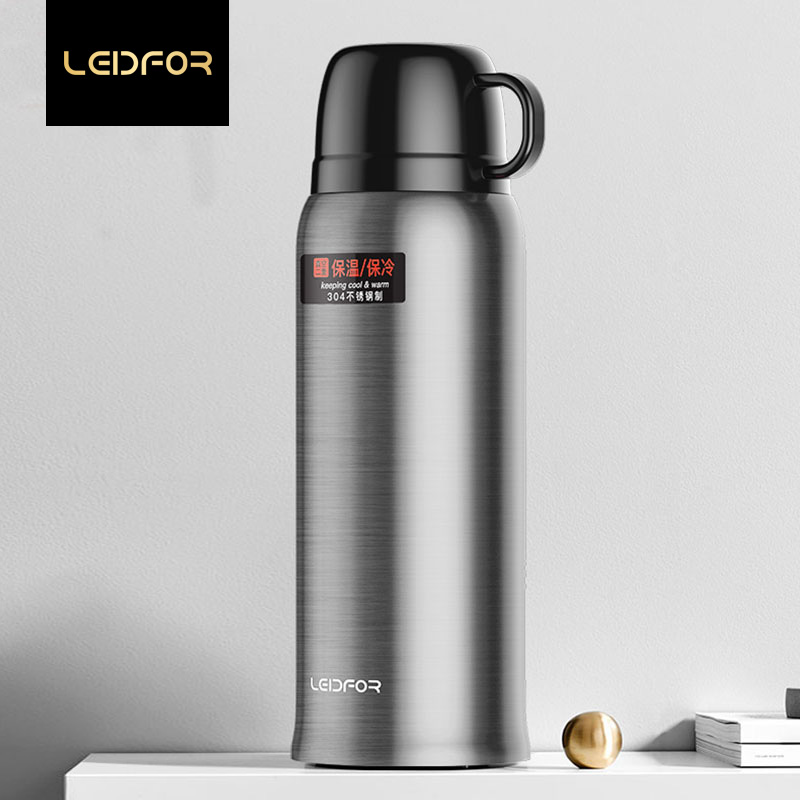 Sport Thermos Bottle Outdoor Travel Vacuum Flasks Big Size Portable Thermal Cup With Bag Stainless Steel Thermoses Coffee Mug