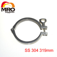 Tri Clamp Clover Sanitary Fits 319mm OD Ferrule Flange Stainless Steel SS 304 Heavy Duty Type
