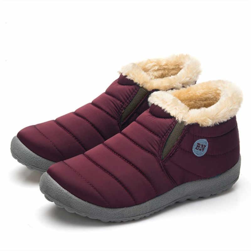 2018 Waterdicht Mannen Winter Schoenen Unisex Snowboots Warm Bont Binnen Outdoor Schoenen Zeer Warm Vader Casual Enkellaars Maat 35-48