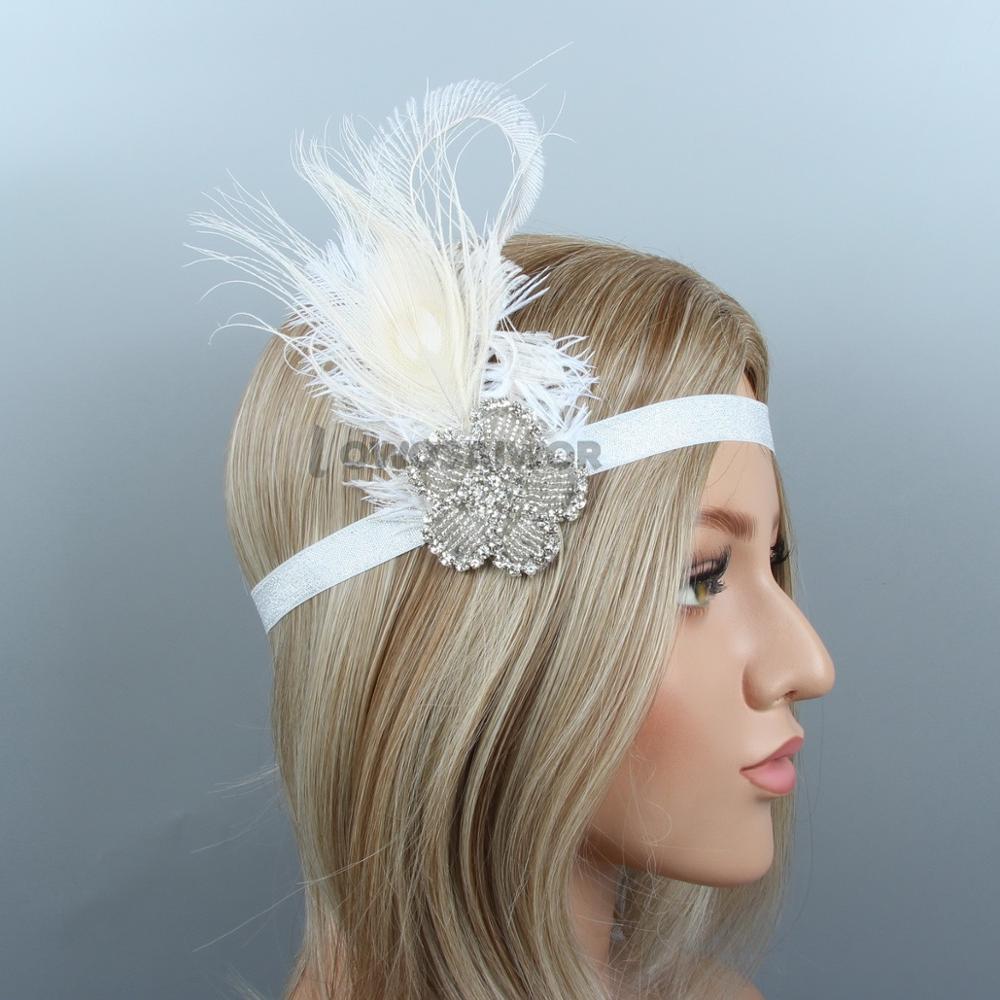 Diamante Rhinestone Vintage 1920/'s Bridal Headband Hair Accessories Jewelry