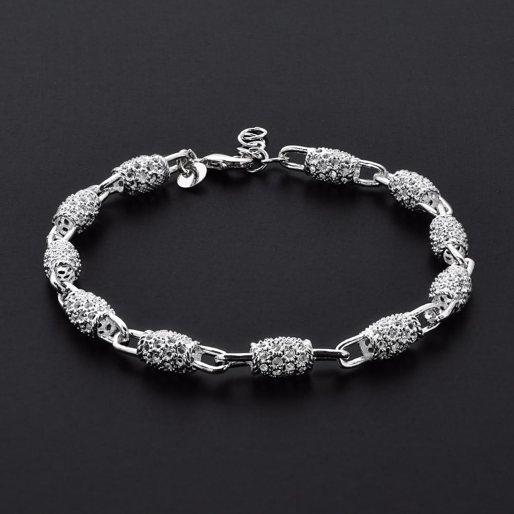 2018 nieuwe zilveren kleur sieraden holle kralen armband mode armband - Mode-sieraden