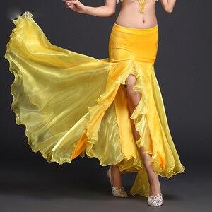 Image 4 - Rumba,Cha cha dance skirt girls belly dance clothes skirt luxury velvet  of skirt sexy fashion dress of women belly dance skirt