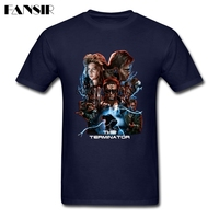 Tailored Tee Shirt Men S TV Series The Terminator Men Tshirt White Short Sleeve Custom Guys