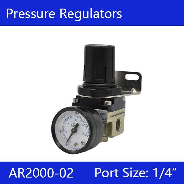 Free shipping AR2000-02 Pressure Regulating Valve, G1/4 Pneumatic mini air pressure regulator air treatment unitsFree shipping AR2000-02 Pressure Regulating Valve, G1/4 Pneumatic mini air pressure regulator air treatment units