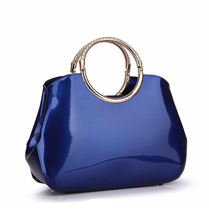 ФОТО 2017 Women Patent Leather Luxury Designer Handbags High Quality Shoulder Bags Sac A Main Femme De Marque Brand Hand Bags Totes