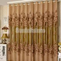 250*100 cm Piwonia Wzór Voile Zasłony Pokój Dzienny Okna Tulle Sheer Curtain