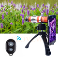 Lentes de Telefoto 18X Telescópio 150X Zoom Macro Lens + Tripé Holde Caso lentes da câmera do telefone para samsung galaxy s4 s5 s6 s7 edge