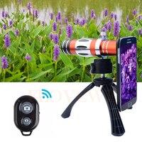 Lentes de Telefoto 18X Telescópio 150X Zoom Macro Lens + Tripé Holde Caso Lentes Da Câmera do telefone Para Samsung Galaxy S4 S5 S6 S7 borda