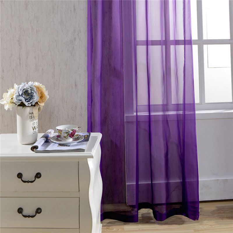 Pure Sheer Curtain White Tulle