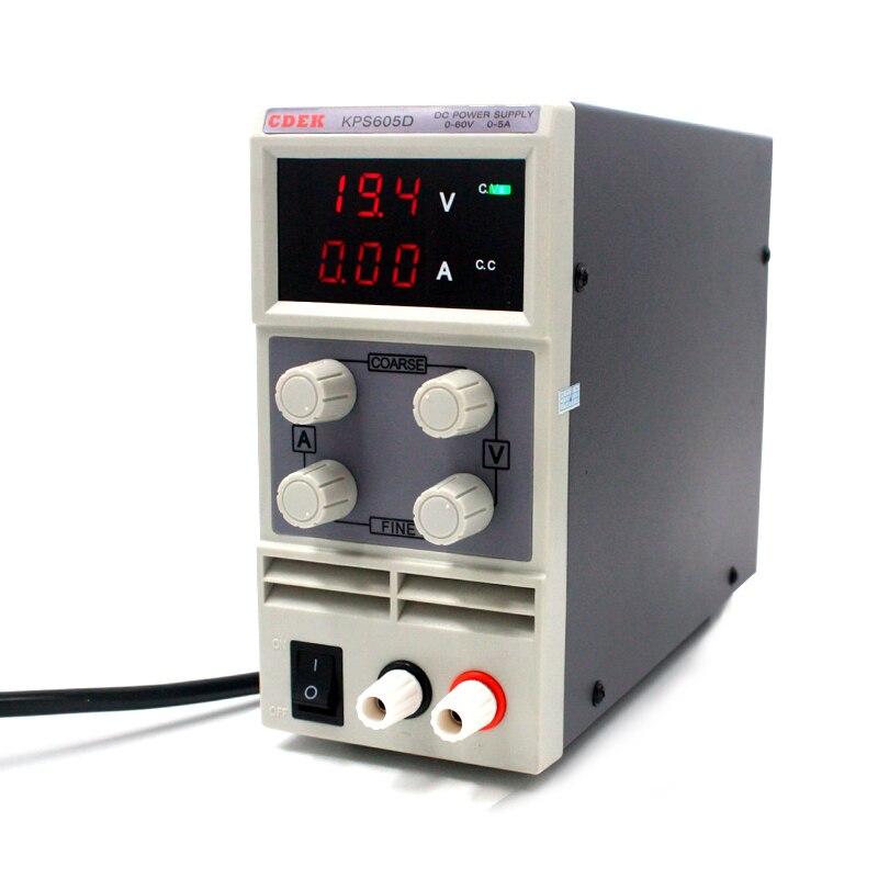 Мини-Лаборатория источника питания KPS605D 60 В 5A однофазный регулируемый SMPS цифровой регулятор напряжения 0,1 В 0.01A питания постоянного тока