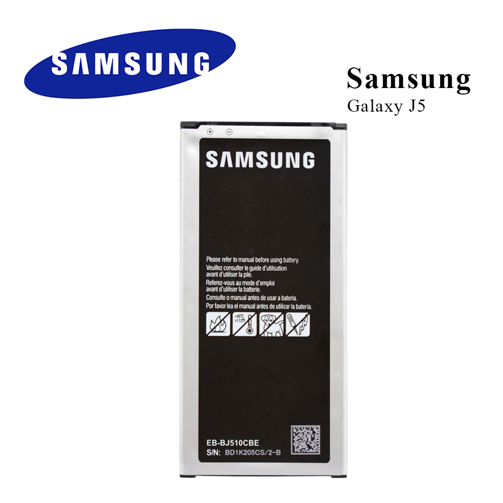 Original <font><b>Battery</b></font> EB-BJ510CBC For <font><b>Samsung</b></font> GALAXY J5 2016 <font><b>J510</b></font> J510FN J510F J510G J510Y J510M Li-ion batteria akku 3100MAH image