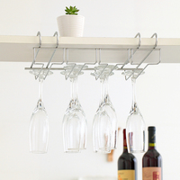 Stainless Steel Double Goblet Rack Wine Cup Holder Coffee Cup Holder Buckets