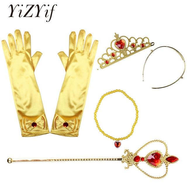 64cb9bcf822b Belle Princess Cosplay Girls Dress Up Costume Accessories Gloves ...