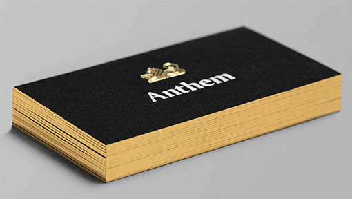 2016 Personnalise Feuille Dor Estampage Papier Design De Carte Visite Noir 600gsm