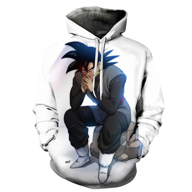 Anime Dragon Ball Z Hoodie Coat Sweatshirts Son Goku Vegeta 3D Hoodies Pullovers Cosplay Hip Hop Costume  Long Sleeve Outerwear