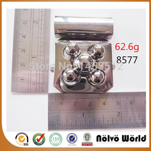 40*50mm zinc alloy metal nickel flower shaped turn lock fashion hardware handmade bag accessory locks