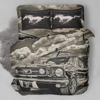 Bedding Set Duvet Cover 3pcs  Customized  3D Digital Printing  Bedding Set  Dropshipping boy gife car Black