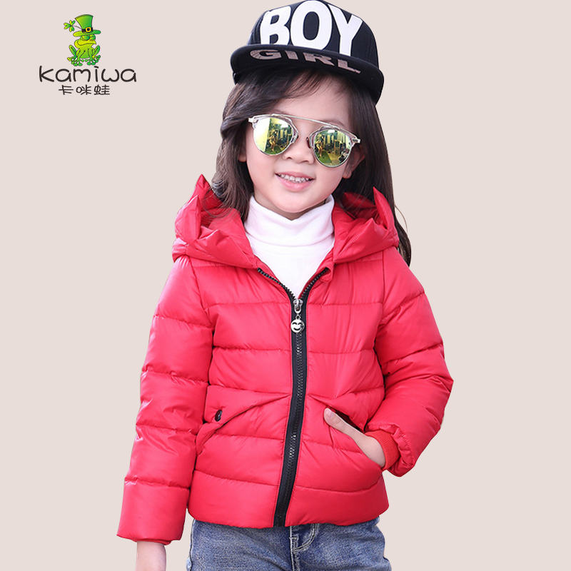 2017 Brand Girls Duck Down Jackets For Cold Winter Children Thick Duck Down Parkas Girls Collar