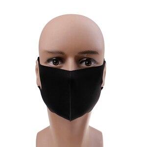 Image 5 - 1 шт., дышащая черная маска для рта в стиле K POP