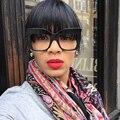 SHAUNA Moda Reforço de Metal Dobradiça Mulheres Sunglassess Grife Grande Quadro Sombra Gradiente Quadrado Espelho Coating Óculos