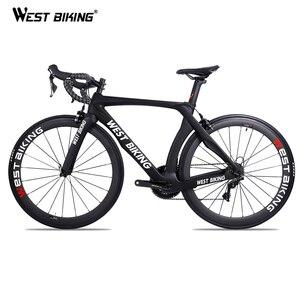 الغربية ركوب الدراجات الكربون الدراجة 22 سرعة 700C سباق الطريق الدراجة Withou الدواسات دراجة مع SHIMANO R7000 ألياف الكربون الأسود Bicicleta