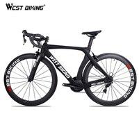 WEST BIKING Carbon Bike 22 Speed 700C Racing Road Bike Withou Pedals Bicycle With SHIMANO R7000 Carbon Fiber Black Bicicleta
