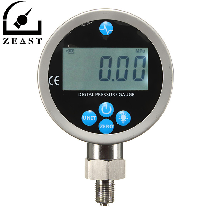 400BAR/40Mpa/10000PSI Digital Hydraulic Pressure Gauge with BSP1/4 Connector Backlight Pressure Tester Meter homeleader 7 in 1 multi use pressure cooker stainless instant pressure led pot digital electric multicooker slow rice soup fogao