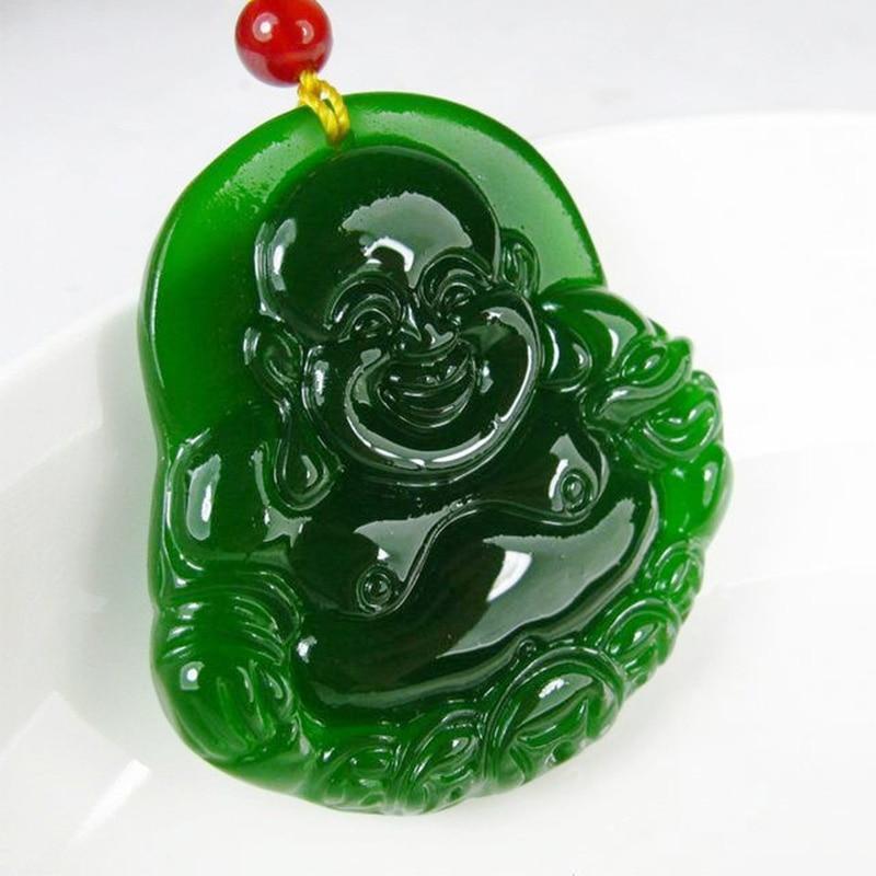 """Xinjiang Hetian jade Buddha Pendant money Tian Maitreya Tatu pendant lucky Green Peace - Jimmy""""store store"""