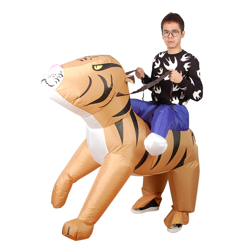 Tiger Inflatable Costumes for Woman Adult Outfits Inflatable mujeres halloween Cosplay Costume Wallowen dress fantasia adulto