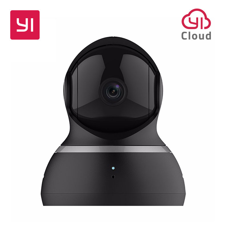 [international edition] xiaomi yi dome camera 1080p fhd 360 degree 112 wide angle pan tilt control two way audio yi dome camera YI Dome Camera 1080P Baby Monitor Cam Pan/Tilt/Zoom Wireless WIFI Security Surveillance System 360 Degree Coverage Night Vision