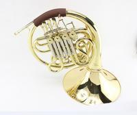 Новое поступление двухрядный 4 ключа разрез Валторны FB ключ латунные трубки золотой лак b/f тон духовой инструмент с случае Бесплатная доста