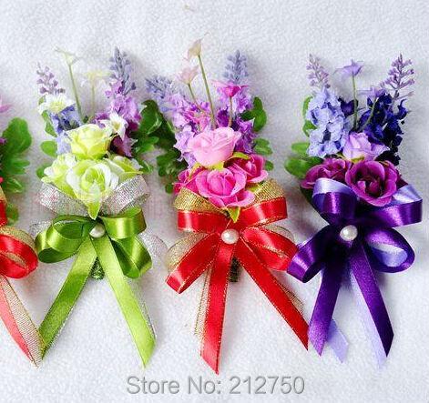 popular silk wedding corsagebuy cheap silk wedding corsage lots, Natural flower