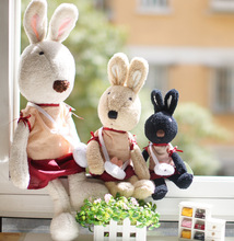 Pernycess 1pcs60cm genuine security lesucre bunny rabbit doll plush toys     colors: black white brown