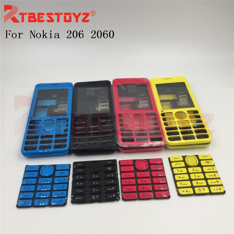 Rtbestoyz Full Complete Mobiele Telefoon Behuizing Cover Case + Enlish Toetsenbord Voor Nokia 206 2060 + Tracking