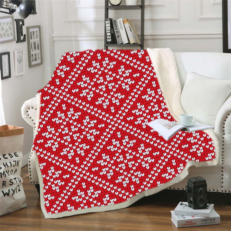 Geometric Pattern Throw Blankets for Beds Crochet Sleeping Chair Sofa Cover Thick Blanket for Home Dropship