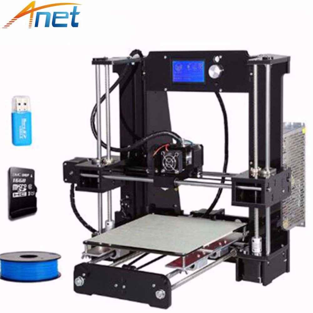 Anet A6 3D Printer Large Printing Size 220*220*250 Precision Reprap Prusa i3 3D Printer Kit DIY with 10m Filament 16GB Card 2017 new anet easy assemble 3d printer upgrated reprap prusa i3 3d printer large print size kit diy with filament 16gb sd card