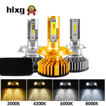 HLXG Mini Canbus H4 H7 LED Far Faro Dell'automobile 12 V 50 W 10000LM H3 H1 H11 9005 HB3 9006 HB4 H8 4300 K 6000 K 8000 K Lampadina Accessori(China)