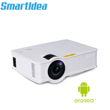 1800Lumens Android 6.0 Smart Led 3D Thuis Mini Projector Draagbare Video Game Lcd Projector Beamer Hdmi Av Usb Ondersteuning hd 1080P