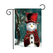 christmas snowman house flag winter holiday banner100 polyester
